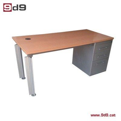 Mesa oficina de segunda mano, fabricada en tablero laminado acabado ...