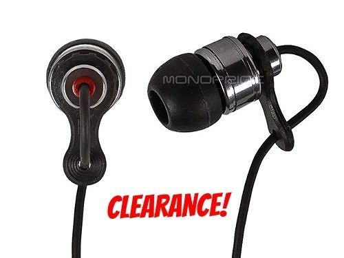HD Black Noise Cancelling Earbud Headphones for Cellphones Ipod NEW
