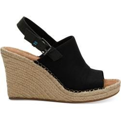 Photo of Toms Black Monica Wedges For Women – Size 36.5 Toms
