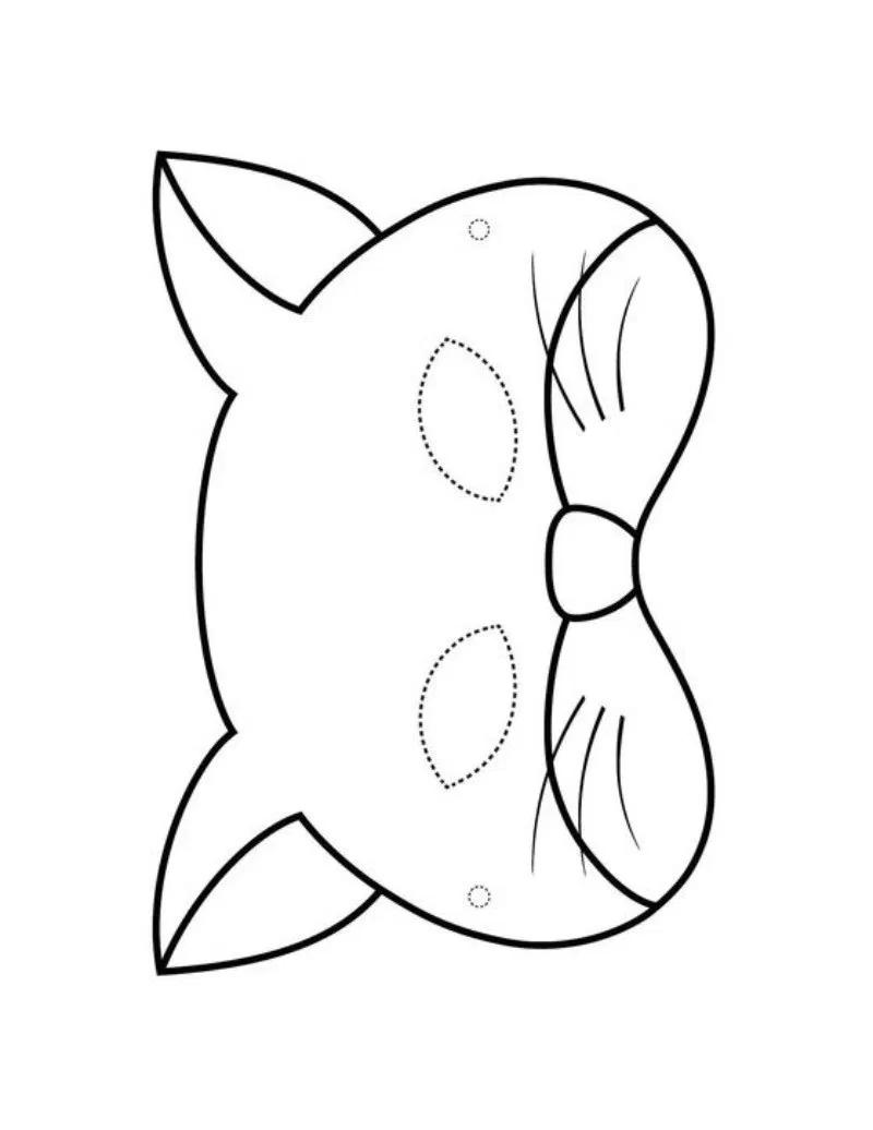 Maski Do Drukowania I Wycinania Koty Szablon Maski Kota Z Papieru Animal Masks For Kids Art Activities For Kids Printable Halloween Masks