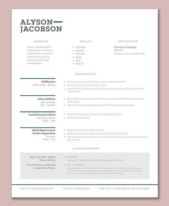 light nice resume template Education Pinterest Template - amazing resume template