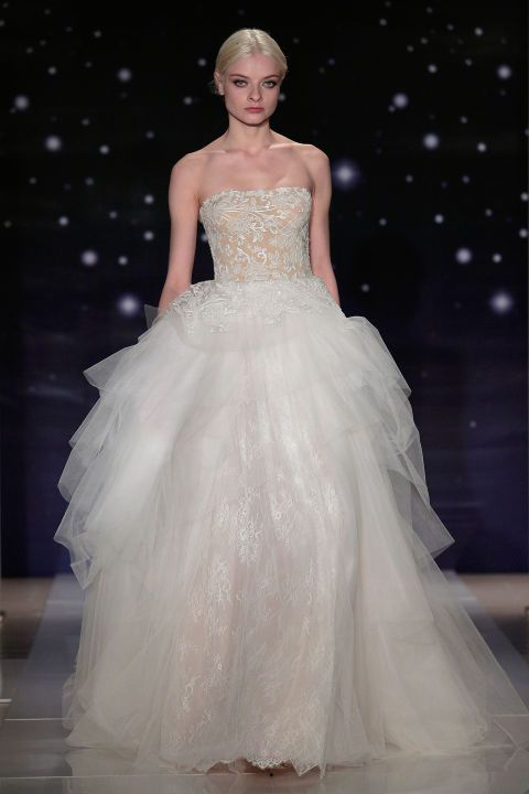 Reem Acra. See all the best bridal gowns on the spring 2016 runways.