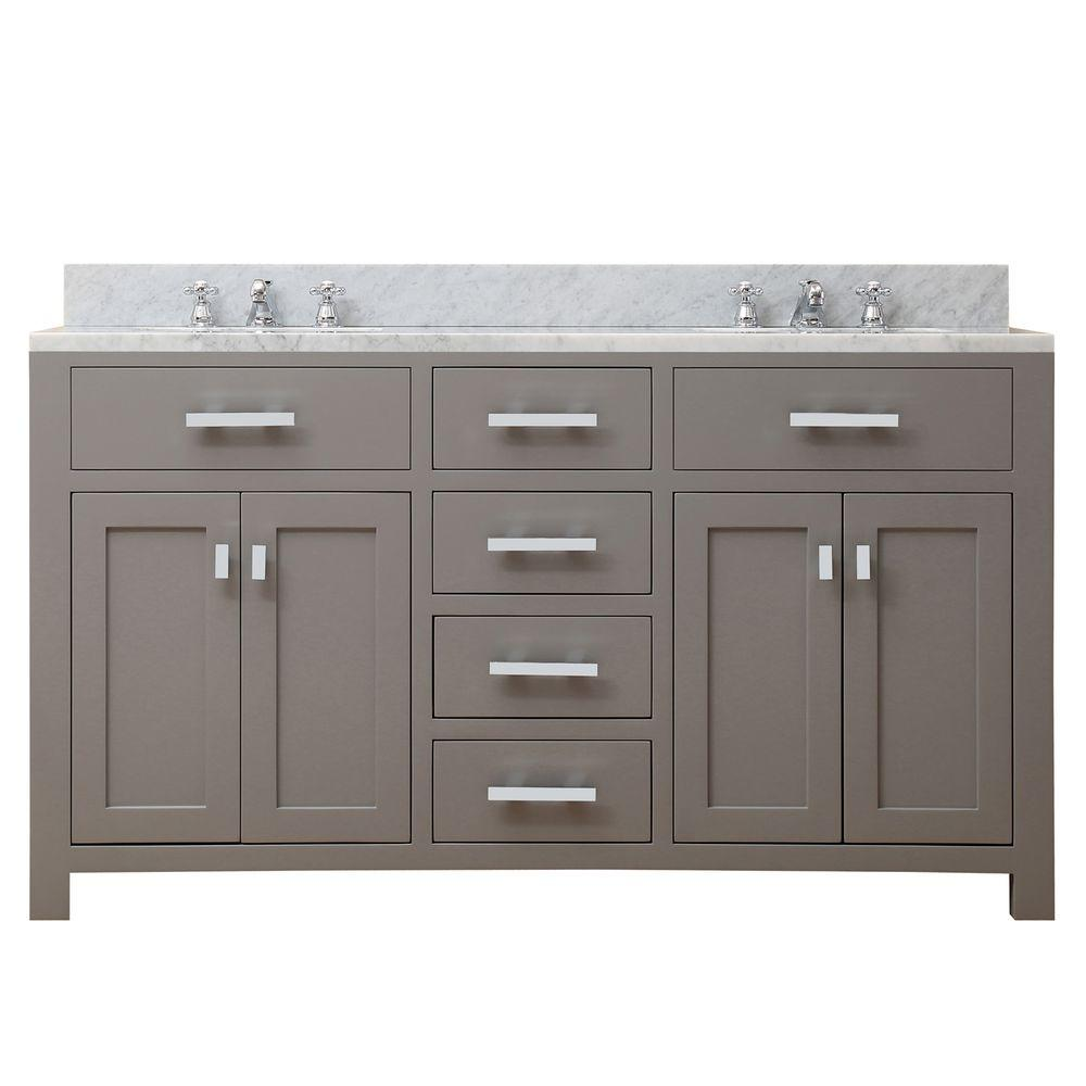 Water Creation 60 In W X 21 In D Vanity In Cashmere Grey With