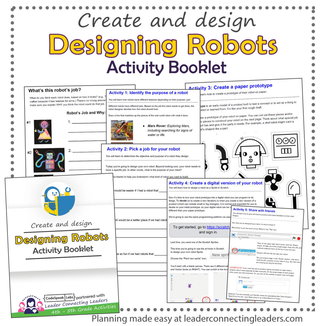 Designing Activity Booklet Activities Include Using