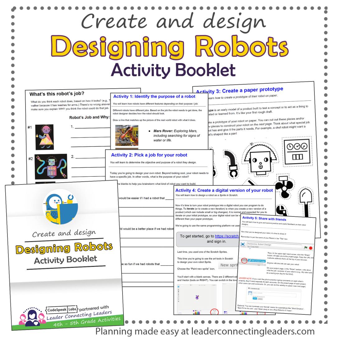 Designing Activity Booklet Activities Include Using