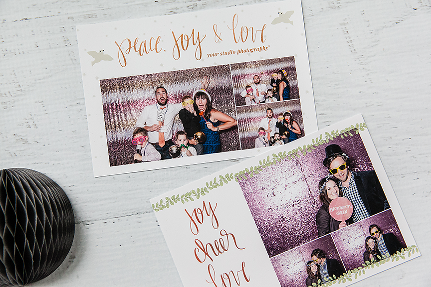 Send Guests Home With A Branded Takeaway From Every Event With These Fabulously Shareable Photobooth Te Photobooth Template Holiday Card Collection Photo Booth