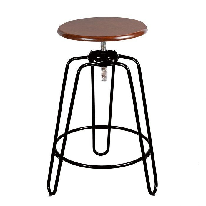Awesome Mcclaskey Adjustable Height Swivel Bar Stool For The Home Squirreltailoven Fun Painted Chair Ideas Images Squirreltailovenorg