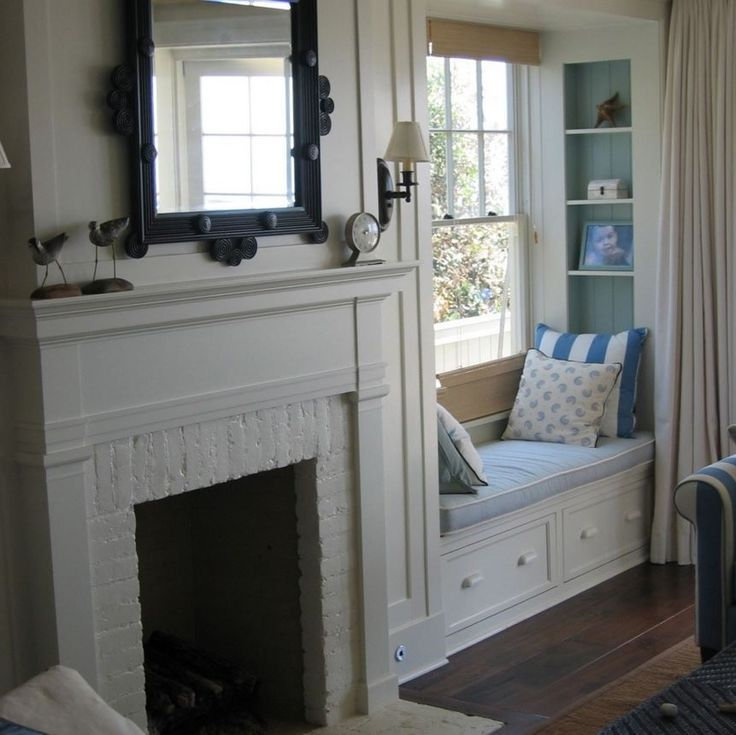 fireplace windows. Image result for fireplace mantels with windows on each side and window  seats or doors