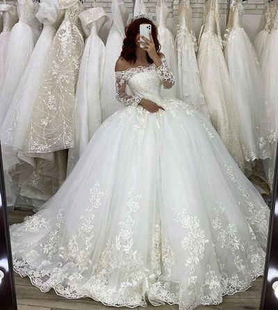 Vintage Long Sleeve Lace Wedding Dress Princess Backless Bridal Gown From Kprom Ball Gowns Wedding Wedding Dresses Princess Wedding Dresses