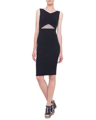 Triangle Tulle Cutout Sheath Dress, Black by Akris at Bergdorf Goodman.