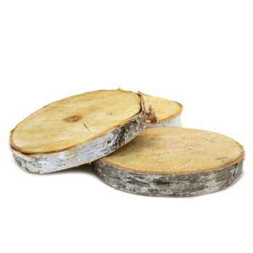 "Check out this item at One Kings Lane! 18"" Birch Tree Wood Slab Centerpiece - amazing for table center pieces with pumpkins"