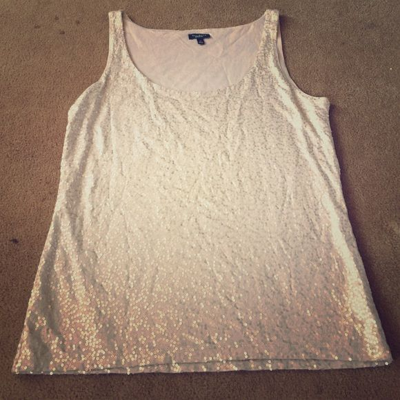 Talbots sequence tank top Tank top gold sequence Talbots Tops Tank Tops