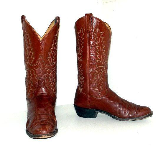 9cb67f194da Brown Western style cowboy Boots -- Panhandle Slim brand - mens size ...