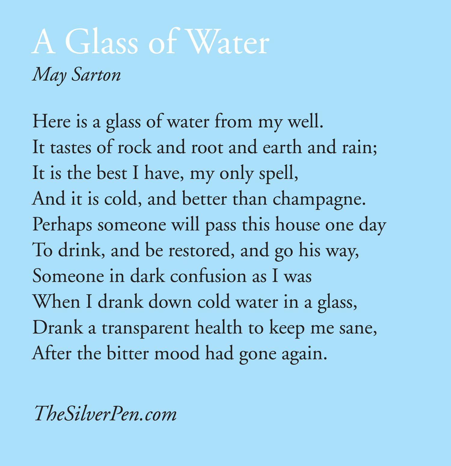 Worksheets Water Poems That Rhyme a glass of water mary oliver poem pinterest oliver
