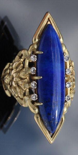 Art Nouveau Cornflower Ring by Louis Wiese