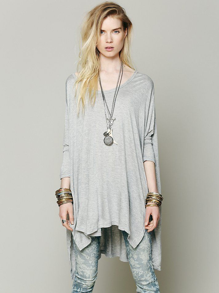 Free People Big Dipper Oversized Tee at Free People Clothing Boutique