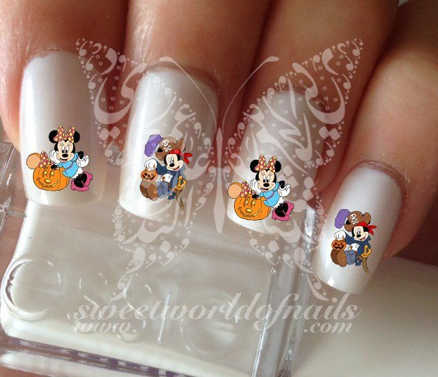 Disney Halloween Mickey Minnie Mouse Nail Art Nail Water Decals ...