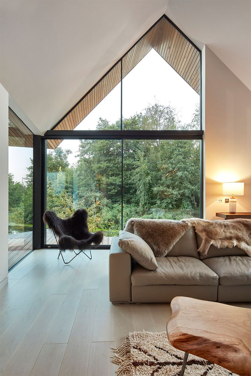 Gable end window ideas  this house for a family was built next to a secluded lagoon in