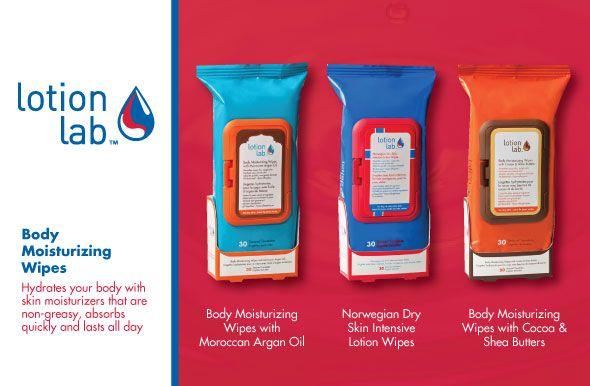 Lotion Lab: body moisturizing wipes