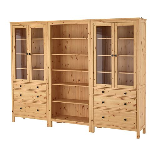 Hemnes Storage Combination W Doors Drawers White Stain 106 1