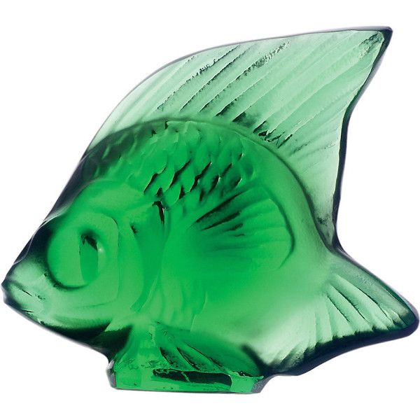 Lalique Fish crystal ornament (€62) ❤ liked on Polyvore featuring home, home decor, lalique, crystal home decor, green home decor and fish home decor