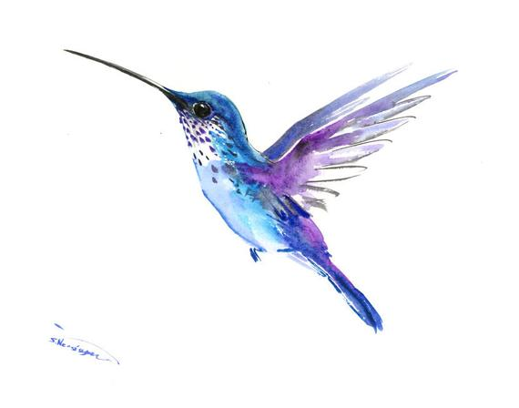 Hummingbird Art Hummingbird Painting Blue Purple Tropical Minimalist Bird Art Blue Turquoise Hummingbird Wall Painting Hummingbird Art Hummingbird Painting Hummingbird Tattoo Watercolor