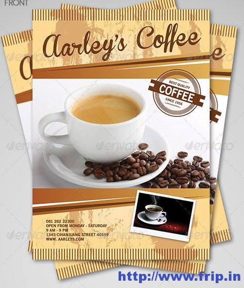 Best Coffee Shop Flyer Print Templates   Flyer Printing