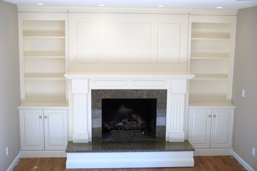 High Quality Fireplace And Shelving Unit Images Pictures | Fireplace Surround With  Shelving And Cabinets