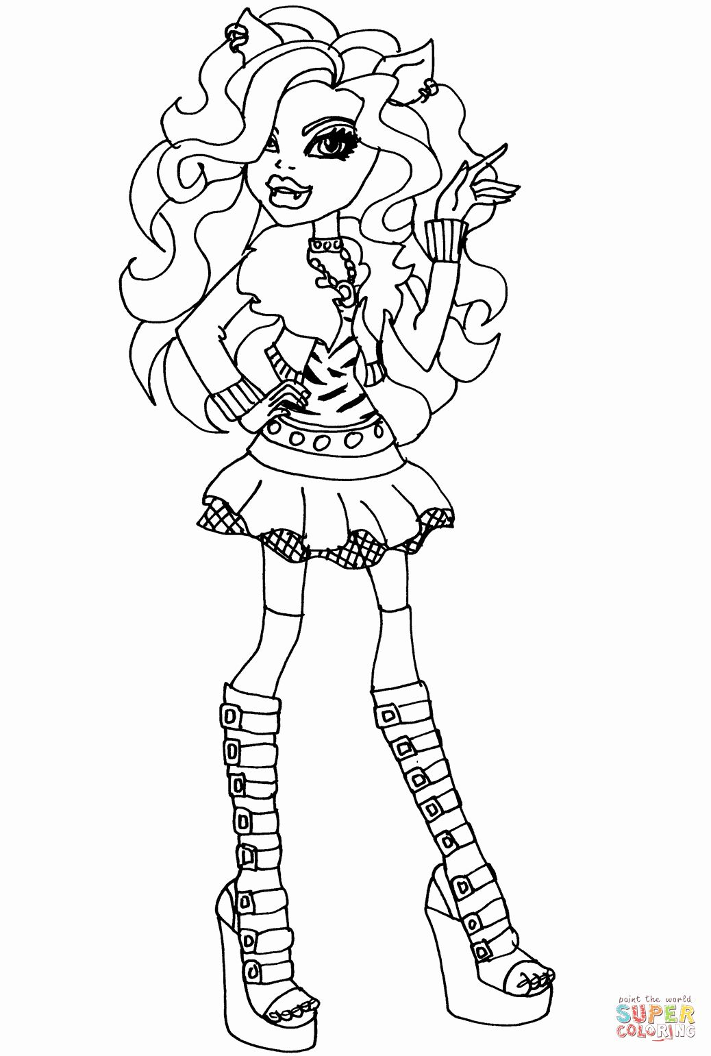 Monster High Coloring Book Fresh Monster High Clawdeen Wolf Coloring Page Halloween Coloring Pages Coloring Pages Halloween Coloring