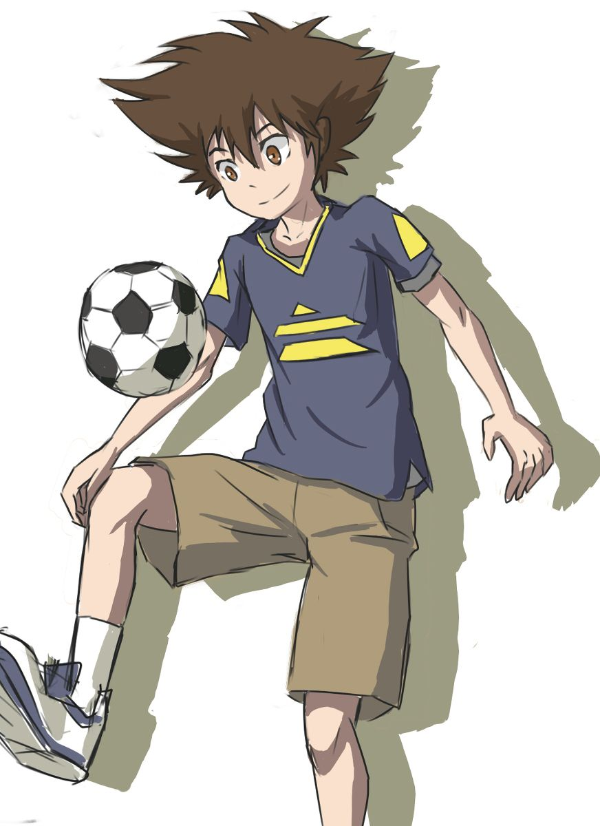 Taichi Playing Soccer Ball Digimon Adventure Digimon Adventure 02 Digimon