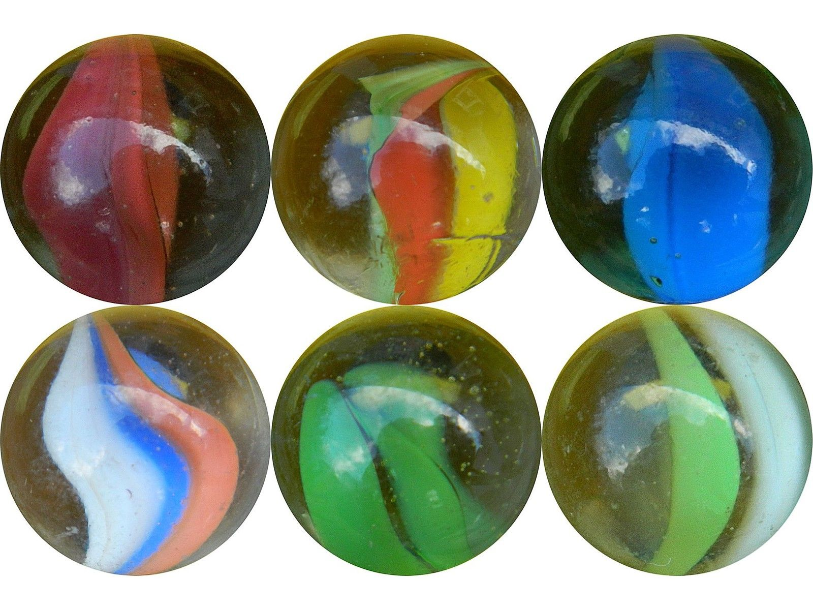 "£1 GBP 10 X ""Cats Eye"" 16Mm (5/8"") Game Play Marbles"