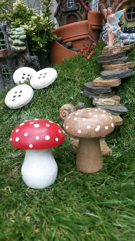 Wooden Toadstools Fairygardensuk Co Uk Fairy Gifts