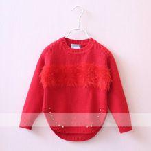 fd94a1888 girls christmas sweaters 2016 baby wool clothing knitting rivet kids ...