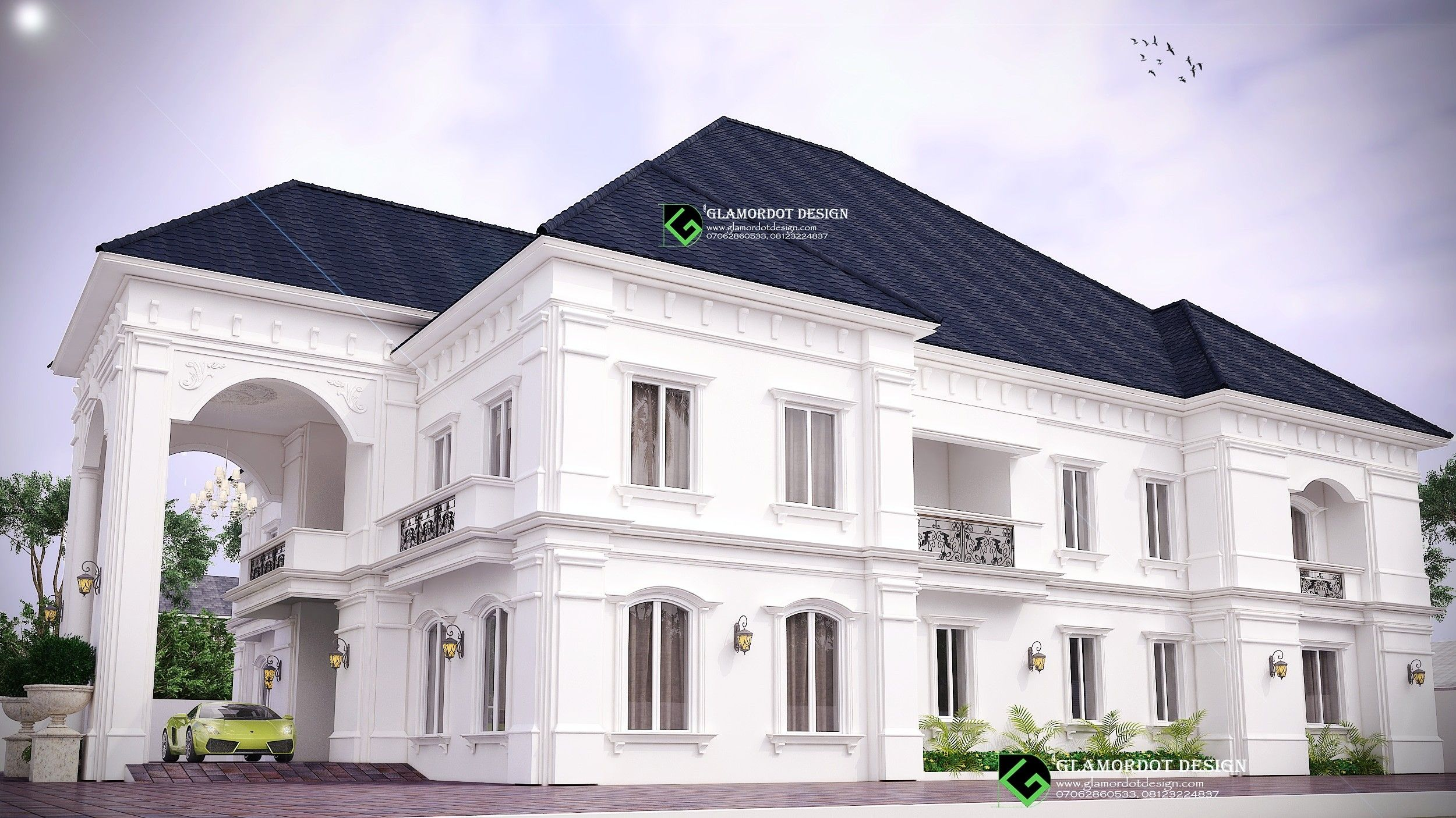 Architectural Design Of A Proposed 5 Bedroom Duplex Design Mansion Designs Duplex Design Architecture Design