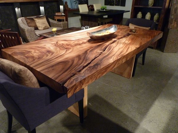 table bois exotique i juste d 39 la deco pinterest wood table tables and consoles. Black Bedroom Furniture Sets. Home Design Ideas