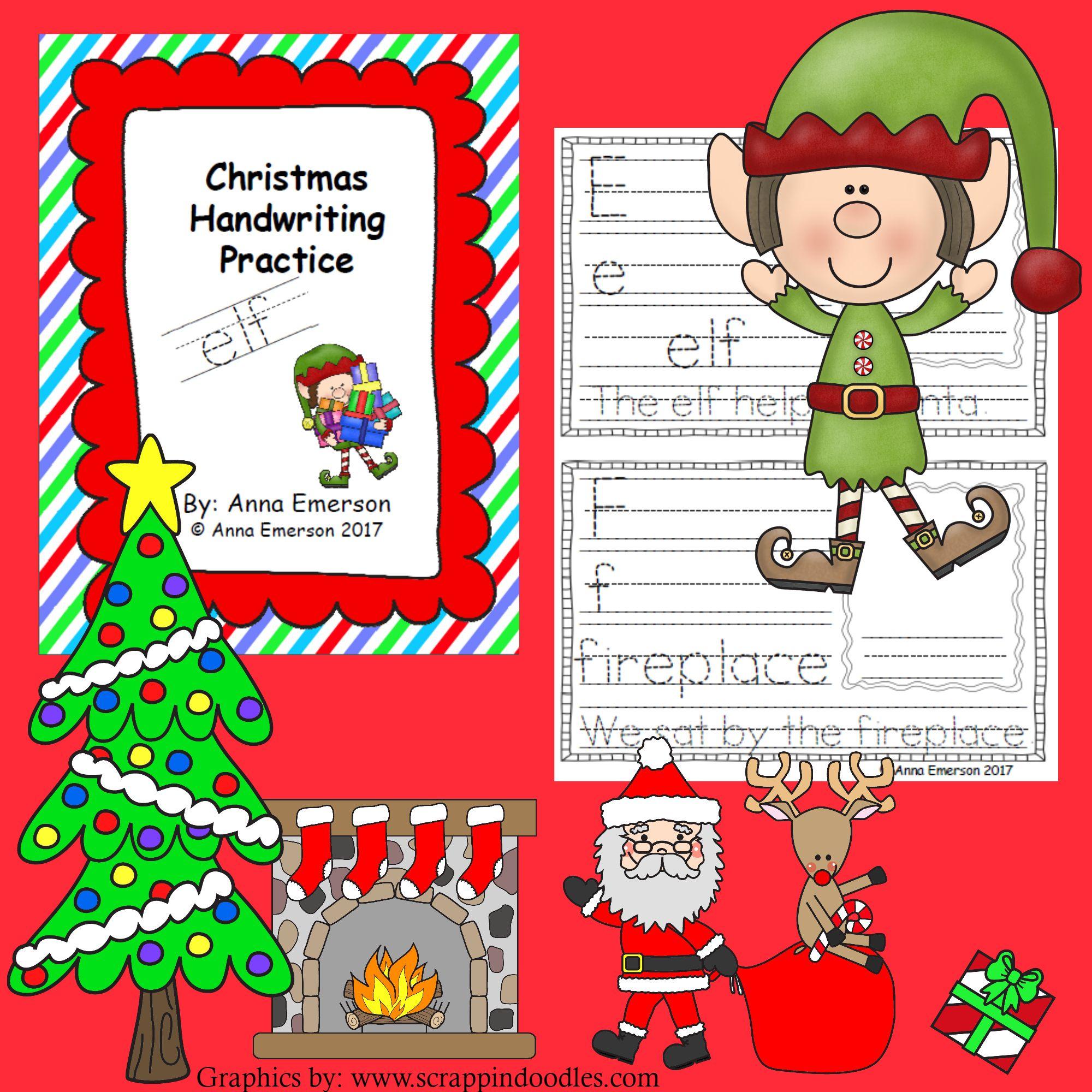 Christmas Handwriting Practice A