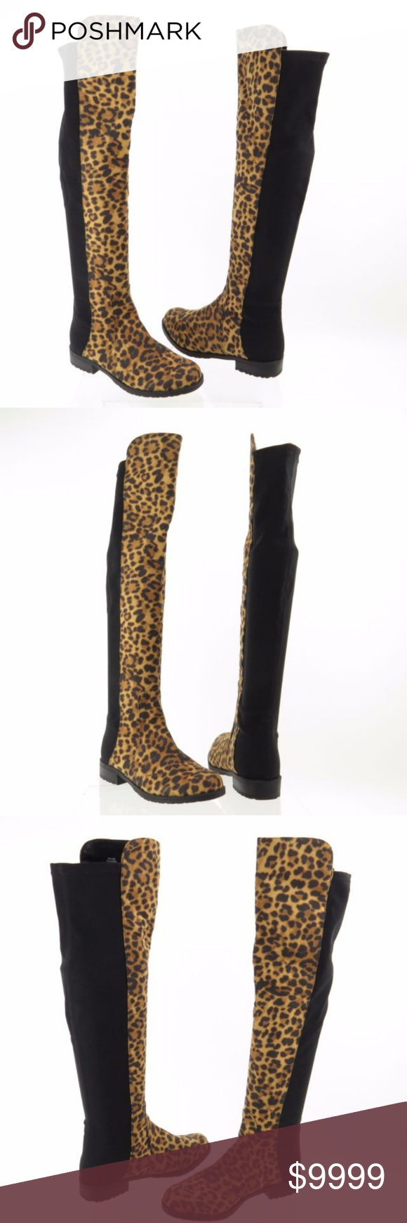 fcb4c524ef8 Unisa Gillean cheetah print thigh high boots♥ Like New