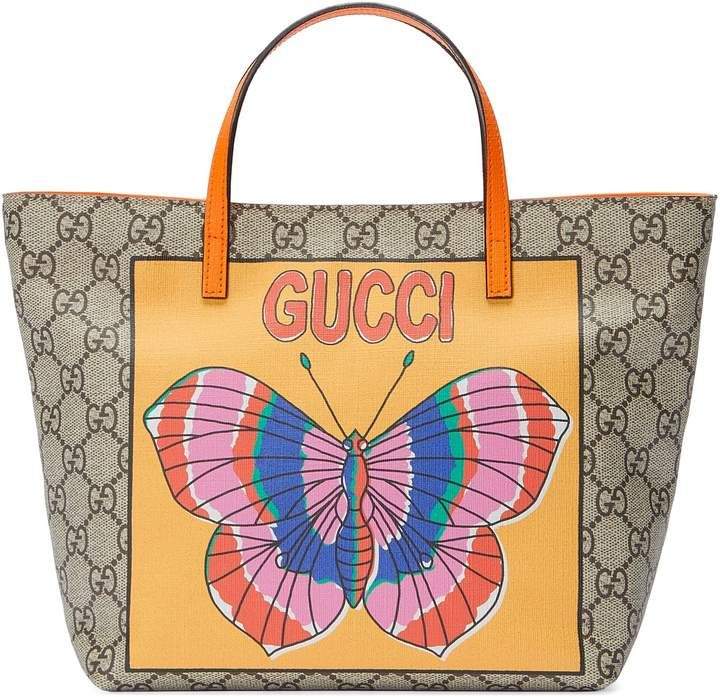 77c4de06d58a Gucci Children's GG butterfly tote | Products in 2019 | Pinterest