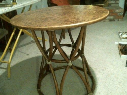 mcguire furniture 1964 vintage table with birds eye maple top rh pinterest com