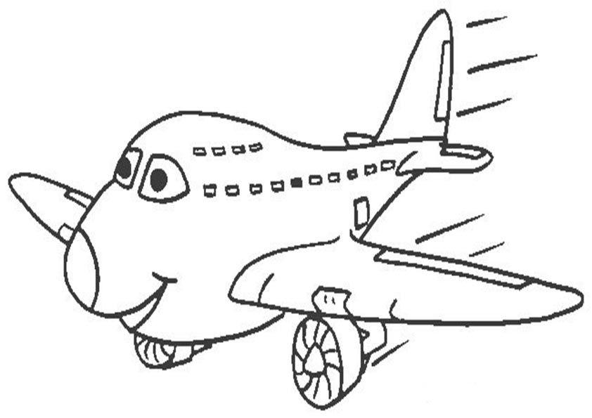 Aviones despegando | Dibujos para colorear e imprimir. Colorear