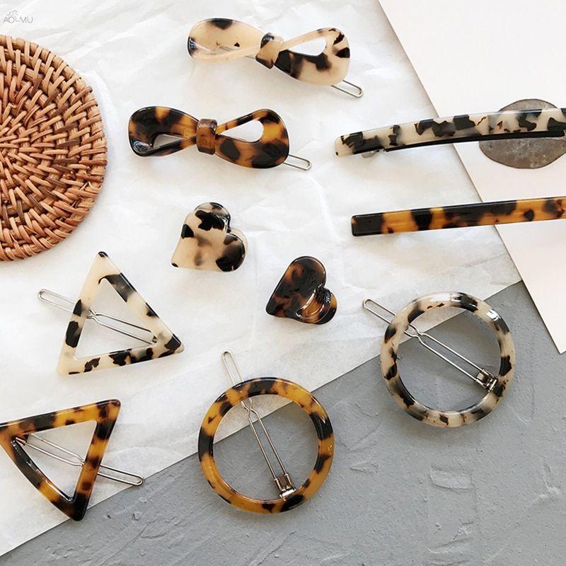 Acrylic Hair Clip Tortoise fashion Hair Clip Geometric Barettes and Hair Clips