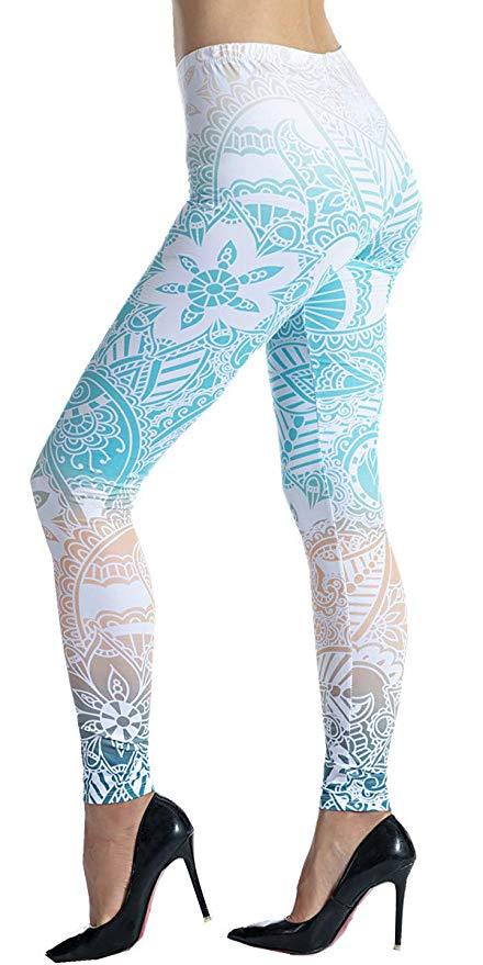 Ndoobiy Womens Leggings Super Soft Yoga Pants Regular and Plus Size