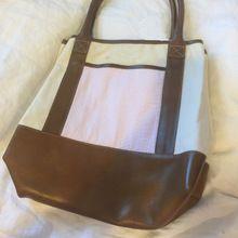Wholesale Seersucker leather Tote bag