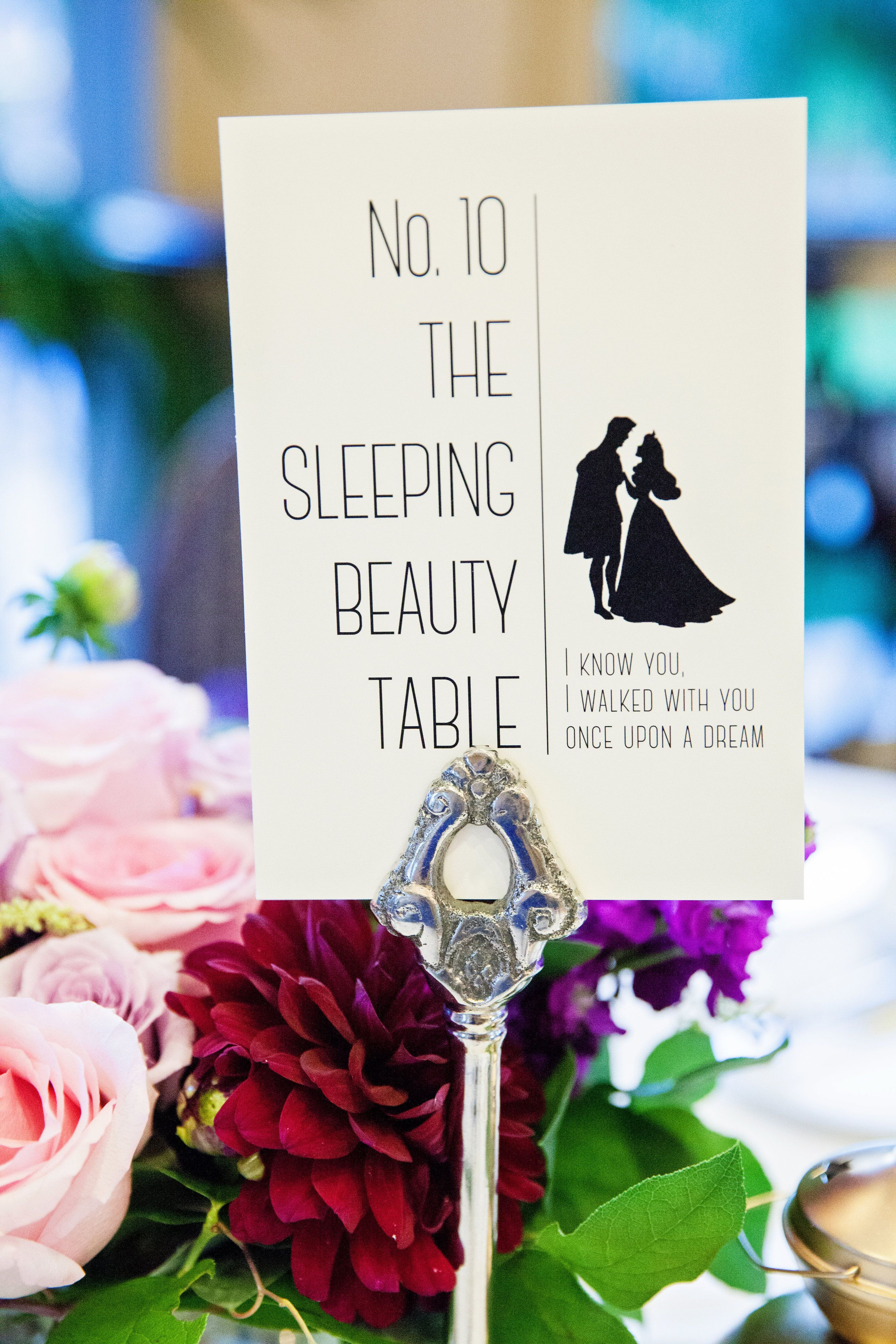 Disneyland photos disneyland paris bride groom table grooms table - Disney Prince And Princess Reception Table Cards With Gold Bow Decor Pinterest Disney Princes Table Cards And Princess