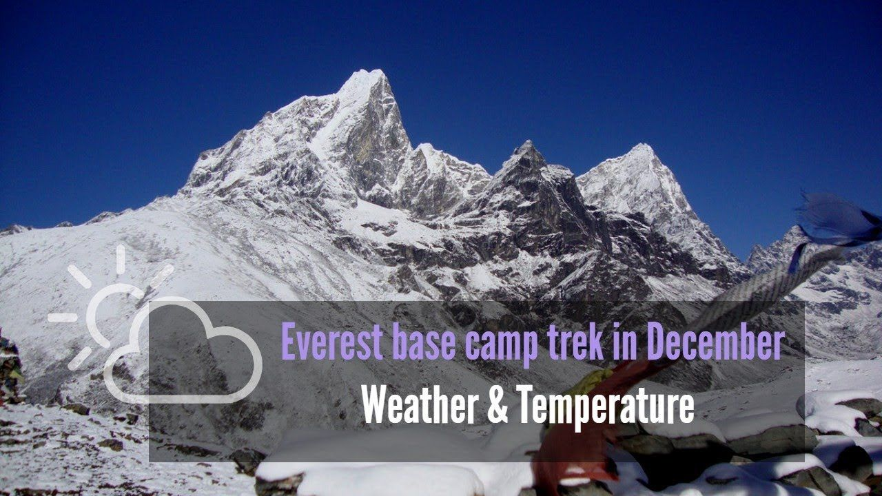 Climate & temperature during Everest base camp trek in