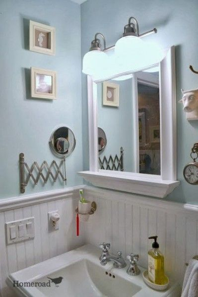 Behr Tide Pools : This bathroom from Homeroad went from yellow to ...