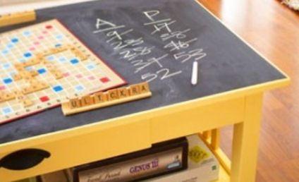 DIY: Chalkboard Game Table