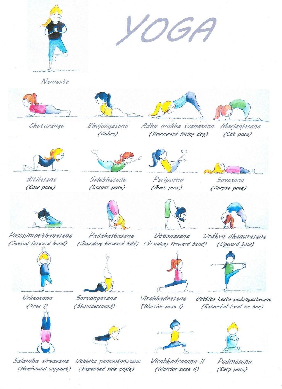 Affiche illustrations yoga diverses postures yoga pinterest affiche illustrations yoga diverses postures fandeluxe Choice Image