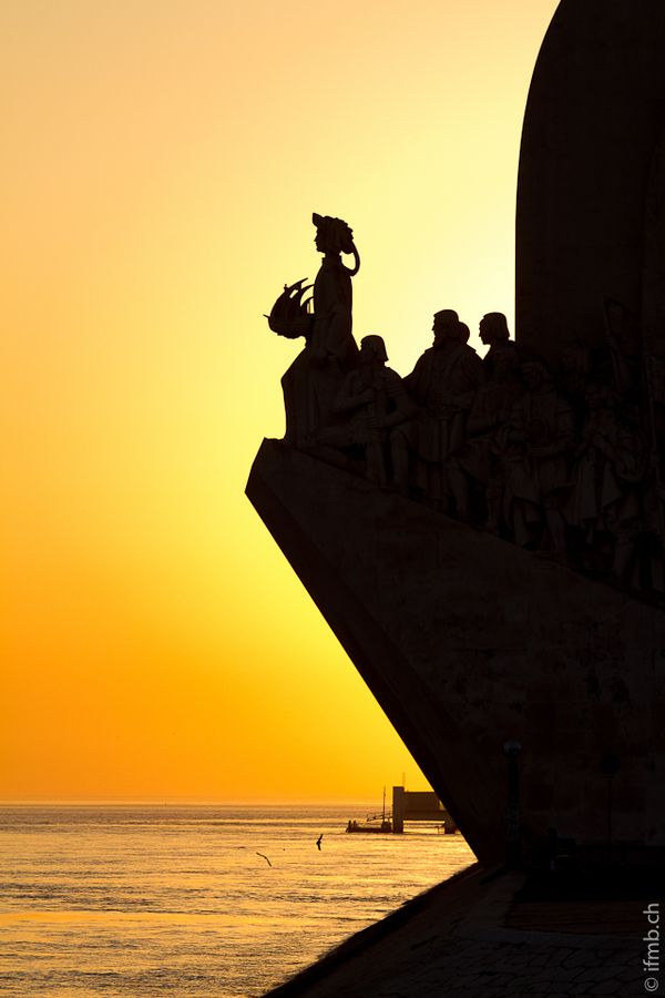 Belem, #Lisbon, #Portugal - by Marc Baertsch modern Monument to the Discoveries with Henry the Navigator (1394 –  1460) at the head.