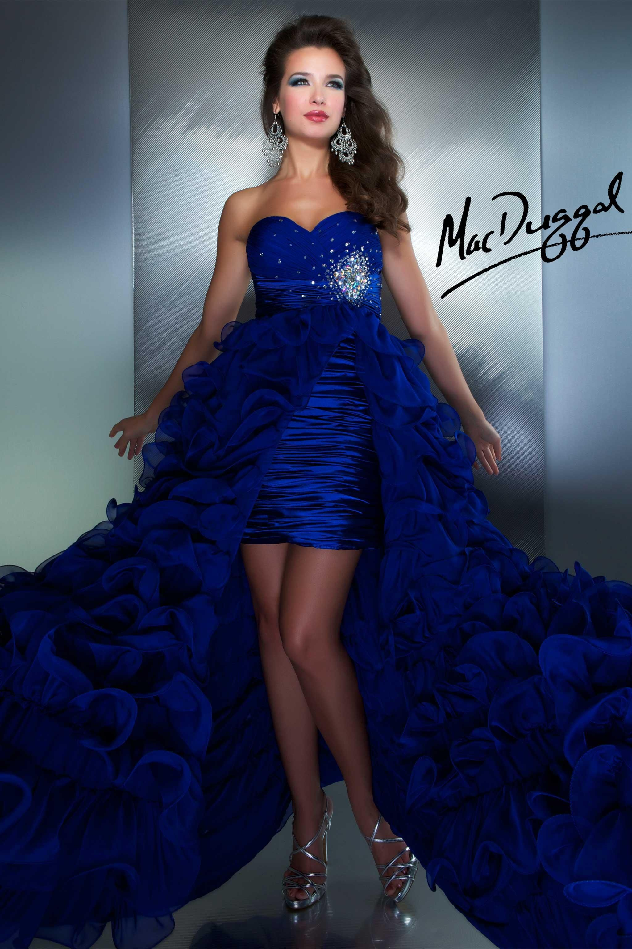 Royal Blue High Low Prom Dress | Mac Duggal 6291M | All That ...